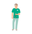 otolaryngologist medical specialist vector image vector image