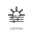 outline lightness icon isolated black simple line vector image vector image