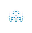 packed bag linear icon concept packed bag line vector image