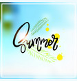 palm summer blurred sea bokeh beach background vector image