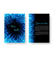 rectangular brochure with neon light vector image vector image