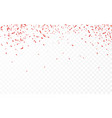 red confetti celebration carnival ribbons luxury vector image vector image