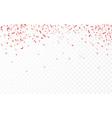 Red confetti celebration carnival ribbons luxury