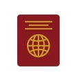 red passport identification tourist vector image