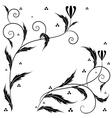 Retro floral art vector image