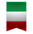 Ribbon banner - italian flag vector image