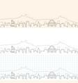 san marino hand drawn skyline vector image vector image