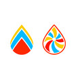 set of oil and gas logo design template vector image