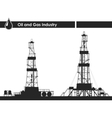 Set of oil rigs silhouettes vector image vector image