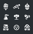 set post-apocalypse icons vector image vector image