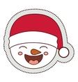 Snowman cartoon of Merry Christmas vector image