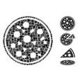 square entire pizza icon collage vector image vector image