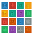square media icons set 4 vector image