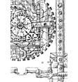 steampunk hand drawn vector image vector image