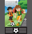 summer soccer camp vector image
