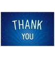 Thank you - blue dreamlike lettering vector image