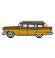 the old big american station wagon vector image vector image