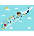 Travel background with flat icons Summer holidays vector image vector image