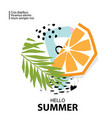trendy tropic and orange background vector image vector image