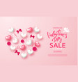 valentines day sale banner beautiful background vector image