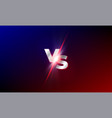 vs versus background red and blue mma fight vector image vector image