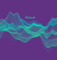 wave background abstract 3d technology style vector image