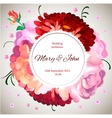 Wedding invitation Vintage card with garden vector image vector image