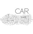 what can you do at car shows text word cloud vector image vector image
