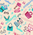 woman accessories bags shoes and glasses Fashion vector image vector image