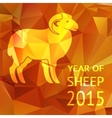 year sheep 2015 poster or card vector image vector image