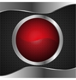 red glass banner on metal bacground vector image