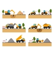 Building site machinery icons vector image