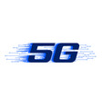 5g new firth generation internet wiress vector image vector image