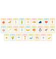 alphabet kids cards kindergarten abc learning vector image vector image