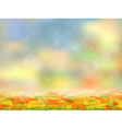 Autumn background with fallen leaves vector image vector image
