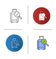 baggage allowance icon vector image vector image