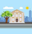 bank building city landscape concept flat design vector image vector image