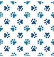 Blue pet or animal footprint seamless pattern vector image vector image