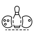 bowling equipment icon outline style vector image vector image