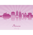 Brescia skyline in purple radiant orchid vector image vector image