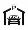 Car parking icon simple style vector image vector image