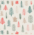 christmas tree seamless pattern repeat tile vector image vector image