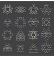 Collection of geometric shapes Design elements vector image vector image