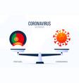coronavirus or portugal creative concept of vector image