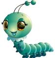 cute caterpillar cartoon vector image vector image