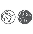 earth line and glyph icon world and geography vector image vector image