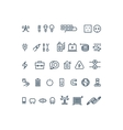 Electricity outline icons vector image