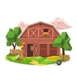 Farm low poly icon vector image
