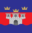 flag of jonkoping county is a county in southern vector image vector image