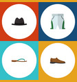 flat icon dress set of beach sandal panama male vector image vector image